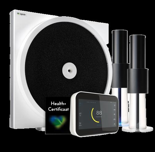 LightAir Health+ virus luchtreiniger, luchtreiniger aerosolen, luchtbehandeling, binnenklimaat